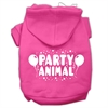 Mirage Pet Products Party Animal Screen Print Pet Hoodies Bright Pink Size Sm (10)