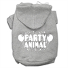Mirage Pet Products Party Animal Screen Print Pet Hoodies Grey Size XXL (18)