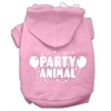 Mirage Pet Products Party Animal Screen Print Pet Hoodies Light Pink Size XL (16)