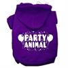 Mirage Pet Products Party Animal Screen Print Pet Hoodies Purple Size Sm (10)