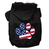Mirage Pet Products Patriotic Paw Screen Print Pet Hoodies Black XXL (18)