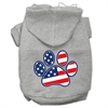Mirage Pet Products Patriotic Paw Screen Print Pet Hoodies Grey XL (16)