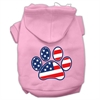 Mirage Pet Products Patriotic Paw Screen Print Pet Hoodies Light Pink Size L (14)