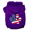 Mirage Pet Products Patriotic Paw Screen Print Pet Hoodies Purple XXL (18)