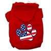 Mirage Pet Products Patriotic Paw Screen Print Pet Hoodies Red Size M (12)