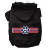 Mirage Pet Products Patriotic Star Paw Screen Print Pet Hoodies Black Size XXL (18)