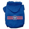 Mirage Pet Products Patriotic Star Paw Screen Print Pet Hoodies Blue Size XS (8)