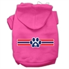 Mirage Pet Products Patriotic Star Paw Screen Print Pet Hoodies Bright Pink Size XXL (18)