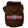 Mirage Pet Products Patriotic Star Paw Screen Print Pet Hoodies Brown Size Sm (10)