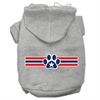 Mirage Pet Products Patriotic Star Paw Screen Print Pet Hoodies Grey XL (16)