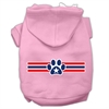 Mirage Pet Products Patriotic Star Paw Screen Print Pet Hoodies Light Pink Size M (12)