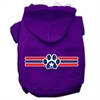 Mirage Pet Products Patriotic Star Paw Screen Print Pet Hoodies Purple Size L (14)