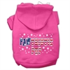 Mirage Pet Products Pawtriotic Pup Screen Print Pet Hoodies Bright Pink Size M (12)
