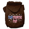 Mirage Pet Products Pawtriotic Pup Screen Print Pet Hoodies Brown Size XS (8)