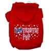 Mirage Pet Products Pawtriotic Pup Screen Print Pet Hoodies Red Size S (10)