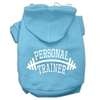 Mirage Pet Products Personal Trainer Screen Print Pet Hoodies Baby Blue Size Med (12)