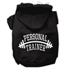 Mirage Pet Products Personal Trainer Screen Print Pet Hoodies Black Size XXL (18)