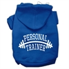 Mirage Pet Products Personal Trainer Screen Print Pet Hoodies Blue Size XXXL (20)
