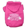 Mirage Pet Products Personal Trainer Screen Print Pet Hoodies Bright Pink Size Sm (10)