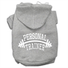 Mirage Pet Products Personal Trainer Screen Print Pet Hoodies Grey Size XXL (18)
