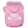 Mirage Pet Products Personal Trainer Screen Print Pet Hoodies Light Pink Size XL (16)