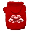 Mirage Pet Products Personal Trainer Screen Print Pet Hoodies Red Size XL (16)