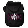Mirage Pet Products Pink Snowflake Swirls Screenprint Pet Hoodies Black Size L (14)