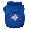 Mirage Pet Products Pink Snowflake Swirls Screenprint Pet Hoodies Blue Size S (10)