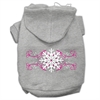 Mirage Pet Products Pink Snowflake Swirls Screenprint Pet Hoodies Grey Size XL (16)