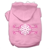 Mirage Pet Products Pink Snowflake Swirls Screenprint Pet Hoodies Light Pink Size M (12)