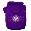 Mirage Pet Products Pink Snowflake Swirls Screenprint Pet Hoodies Purple Size S (10)
