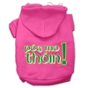 Mirage Pet Products Pog Mo Thoin Screen Print Pet Hoodies Bright Pink Size XS (8)