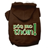 Mirage Pet Products Pog Mo Thoin Screen Print Pet Hoodies Brown Size XS (8)