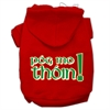 Mirage Pet Products Pog Mo Thoin Screen Print Pet Hoodies Red Size XS (8)