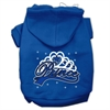 Mirage Pet Products I'm a Prince Screen Print Pet Hoodies Blue Size Med (12)