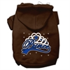 Mirage Pet Products I'm a Prince Screen Print Pet Hoodies Brown Size Med (12)