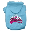 Mirage Pet Products I'm a Princess Screen Print Pet Hoodies Baby Blue Size Sm (10)