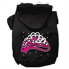 Mirage Pet Products I'm a Princess Screen Print Pet Hoodies Black Size XS (8)