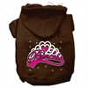 Mirage Pet Products I'm a Princess Screen Print Pet Hoodies Brown Size Sm (10)