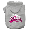Mirage Pet Products I'm a Princess Screen Print Pet Hoodies Grey Size XL (16)