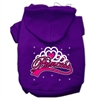 Mirage Pet Products I'm a Princess Screen Print Pet Hoodies Purple Size Sm (10)