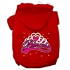Mirage Pet Products I'm a Princess Screen Print Pet Hoodies Red Size XS (8)