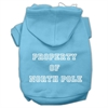 Mirage Pet Products Property of North Pole Screen Print Pet Hoodies Baby Blue Size L (14)