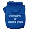 Mirage Pet Products Property of North Pole Screen Print Pet Hoodies Blue Size XS (8)