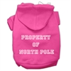 Mirage Pet Products Property of North Pole Screen Print Pet Hoodies Bright Pink Size XS (8)