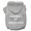 Mirage Pet Products Property of North Pole Screen Print Pet Hoodies Grey Size XL (16)