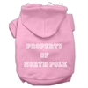 Mirage Pet Products Property of North Pole Screen Print Pet Hoodies Pink Size XS (8)