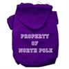 Mirage Pet Products Property of North Pole Screen Print Pet Hoodies Purple Size S (10)