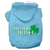 Mirage Pet Products Proud to be Irish Screen Print Pet Hoodies Baby Blue Size Sm (10)