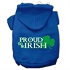 Mirage Pet Products Proud to be Irish Screen Print Pet Hoodies Blue Size Sm (10)